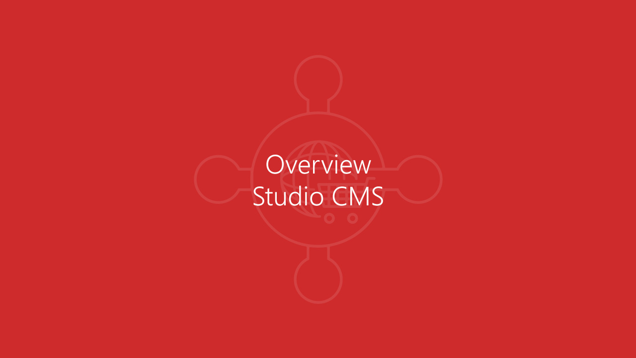 BC-Commerce: Overview Studio CMS