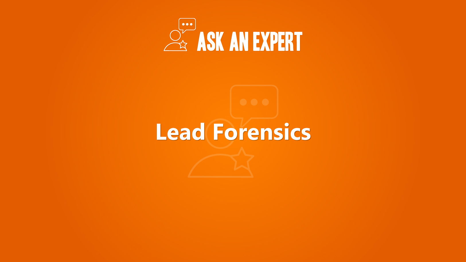 Lead Forensics - Ask an Expert